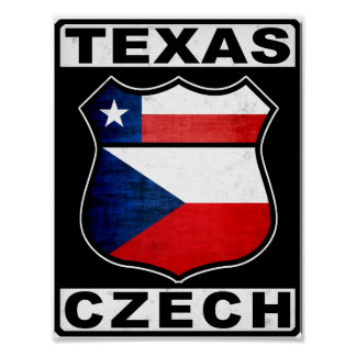 Americano checo de Tejas Póster