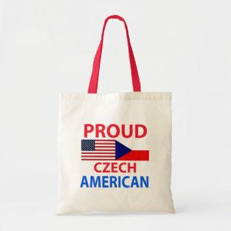 Americano checo orgulloso bolsa tela barata