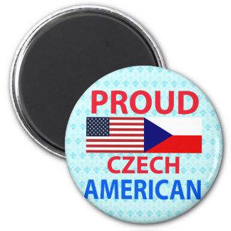 Americano checo orgulloso iman de frigorífico