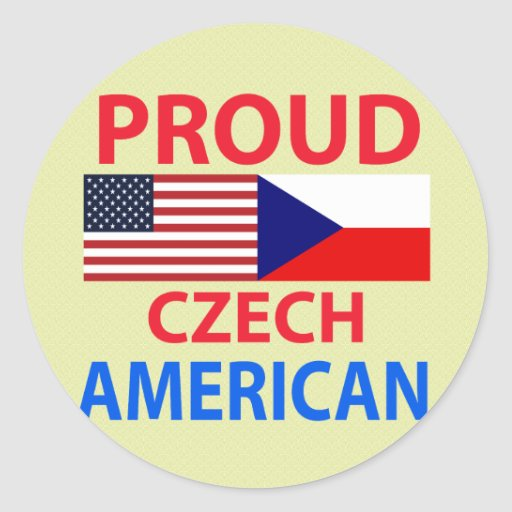 Americano checo orgulloso pegatina redonda