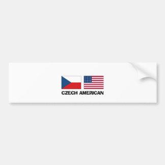 Americano checo pegatina para auto