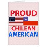 Americano chileno orgulloso tarjeta de felicitación