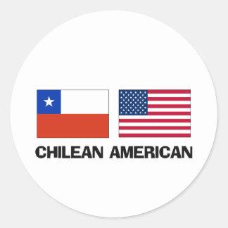 Americano chileno pegatina redonda