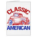 Americano clásico tarjetas