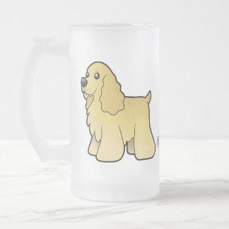 Americano cocker spaniel del dibujo animado tazas
