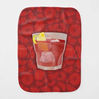 Americano cocktail burp cloth