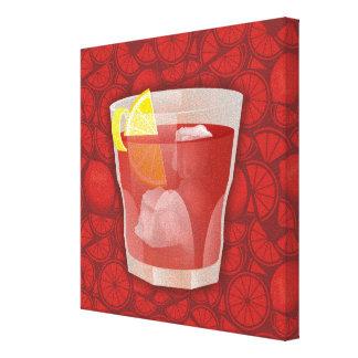 Americano cocktail canvas print