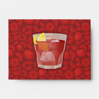 Americano cocktail envelope
