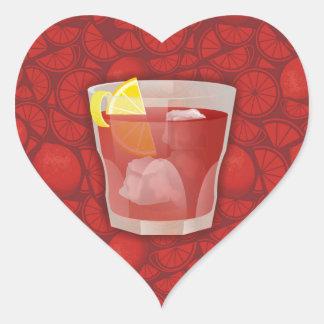 Americano cocktail heart sticker