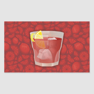 Americano cocktail rectangular sticker