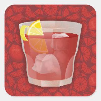 Americano cocktail square sticker