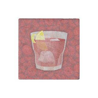 Americano cocktail stone magnet