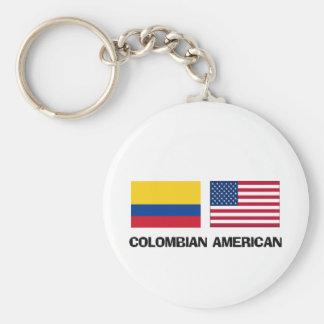 Americano colombiano llavero redondo tipo pin