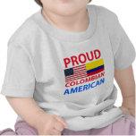 Americano colombiano orgulloso camisetas