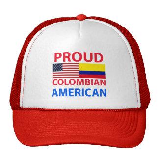 Americano colombiano orgulloso gorras de camionero