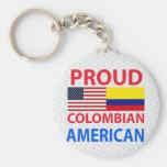 Americano colombiano orgulloso llavero