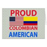Americano colombiano orgulloso tarjetón
