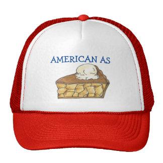 Americano como Apple empanada rebanada gorra