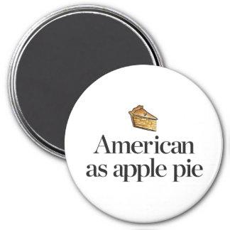Americano como empanada de Apple Imán Redondo 7 Cm