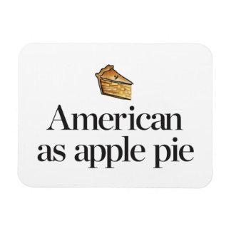Americano como empanada de Apple Imanes Flexibles