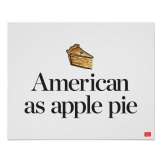Americano como empanada de Apple Póster