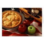 Americano como empanada de Apple Tarjeta De Felicitación