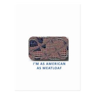 Americano como pan con carne postal