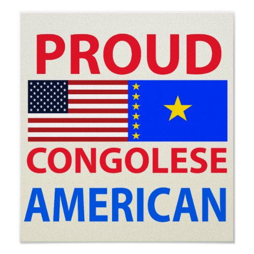 Americano congolés orgulloso póster