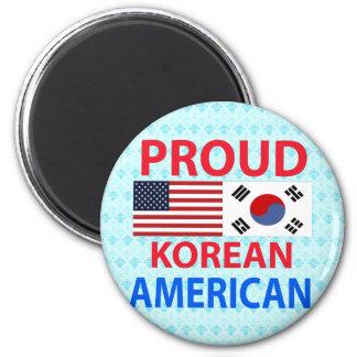 Americano coreano orgulloso iman