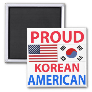 Americano coreano orgulloso iman de frigorífico