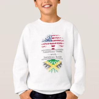 Americano crecido con el gran regalo de las raíces sudadera