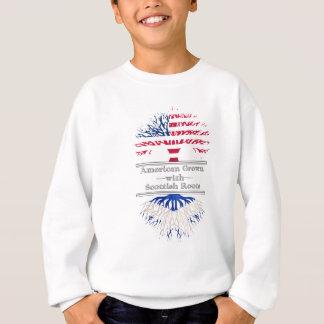 Americano crecido con las raíces escocesas sudadera