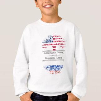 Americano crecido con las raíces rusas sudadera