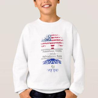 Americano crecido con las raíces salvadoreñas sudadera