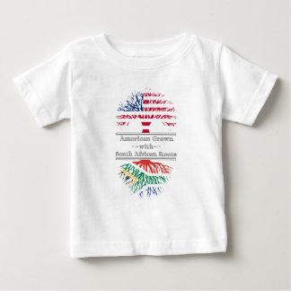 Americano crecido con las raíces surafricanas playera de bebé