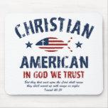 Americano cristiano alfombrillas de ratón