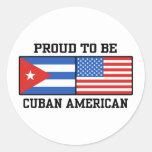 Americano cubano etiquetas redondas