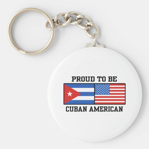 Americano cubano llavero redondo tipo pin