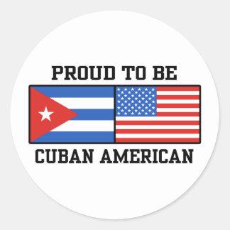 Americano cubano pegatina redonda