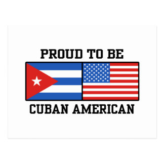 Americano cubano postal