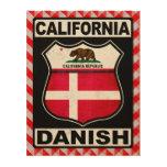 Americano danés de California Impresión En Madera