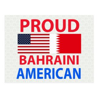 Americano de Bahrein orgulloso Tarjetas Postales