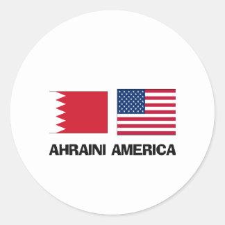 Americano de Bahrein Etiqueta Redonda