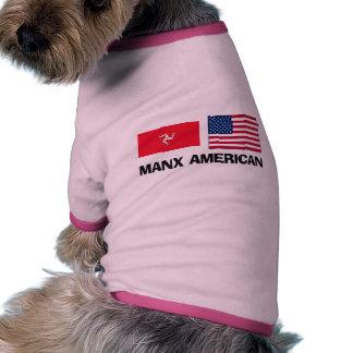 Americano de la Isla de Man Camisetas De Perrito