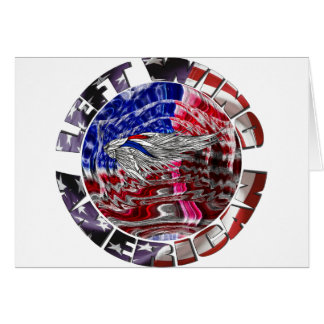 Americano de la izquierda tarjeta de felicitación