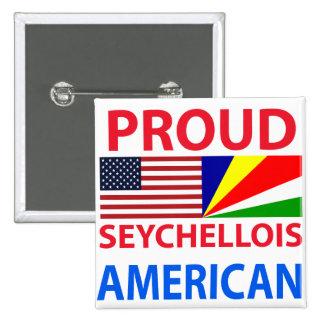 Americano de Seychelles orgulloso Pin