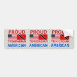 Americano de Trinidad y Tobago orgulloso Etiqueta De Parachoque