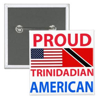 Americano de Trinidad y Tobago orgulloso Pin Cuadrada 5 Cm