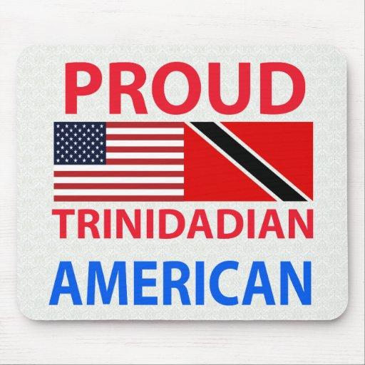 Americano de Trinidad y Tobago orgulloso Tapete De Ratones