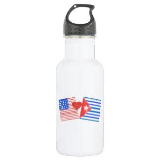Americano de Vida, cubano del corazón Botella De Agua